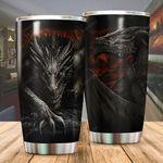 Black Dragon Stainless Steel Tumbler Cup | Travel Mug | Colorful - Tumbler 20oz