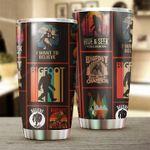 Bigfoot Vintage Stainless Steel Tumbler Cup | Travel Mug | Colorful - Tumbler 20oz