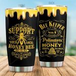 Bee Keeper Stainless Steel Tumbler Cup | Travel Mug | Colorful - Tumbler 20oz