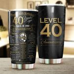 Anniversary 40 Years Stainless Steel Tumbler Cup | Travel Mug | Colorful - Tumbler 20oz