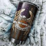Tumbler cup harley davidson eagle and american flag - Tumbler 20oz