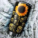 Tumbler cup You are my sunshine Sunflower Skull - Tumbler 20oz