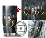 Tumbler cup Iron maiden old school signatures - Tumbler 20oz