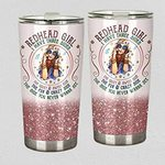 Redhead I Have Three Sides Stainless Steel Tumbler Tumbler Cups For Coffee/Tea Great Customized Gifts For Birthday Christmas Thanksgiving Perfect Gifts For Redhead Lovers