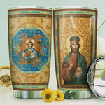Jesus Eastern Orthodox Tumbler Cup Stainless Steel Insulated Tumbler 20 Oz Great Gifts For Birthday Christmas Thanksgiving Tumbler For Coffee/ Tea With Lid Unique Gifts For Friends Relatives