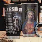 Jesus God Picture Tumbler Warrior Tumbler Cup My God My King My Everything Stainless Steel Insulated Tumbler 20 Oz Great Customized Gifts For Birthday Christmas Thanksgiving Coffee/ Tea Tumbler