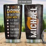 Personalized Daily Beer Tumbler Cup Beer Cup Image Stainless Steel Insulated Tumbler 20 Oz Great Gifts For Beer Lovers Best Birthday Gifts Christmas Gifts Unique Tumbler With Lid
