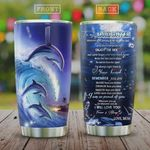 Dolphin Picture Tumbler Cup To My Daughter Enjoy The Ride Stainless Steel Insulated Tumbler 20 Oz Best Tumbler For Daughter Love From Mom Great Gifts For Birthday Christmas Thanksgiving