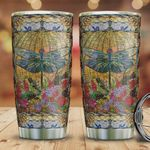 Dragonfly Glasses Style Tumbler Cup Stainless Steel Insulated Tumbler 20 Oz Perfect Gifts For Dragonfly Lovers Tumbler For Coffee/ Tea Best Gift Ideas For Birthday Christmas Thanksgiving