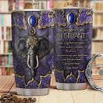 Elephant Picture Tumbler Cup Advice From Elephant Stainless Steel Insulated Tumbler 20 Oz Perfect Gift For Elephant Lovers Tumbler For Coffee/ Tea Best Gifts For Birthday Christmas Thanksgiving