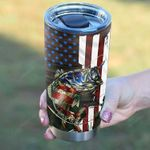 Personalized Fishing Dad Us National Flag Tumbler Stainless Steel Tumbler, Tumbler Cups For Coffee/Tea, Great Customized Gifts For Father's Day Birthday Christmas Thanksgiving