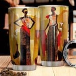 Black Woman Picture Tumbler Cup Stainless Steel Insulated Tumbler 20 Oz Best Gifts For Girls Great Gifts For Birthday Christmas Thanksgiving Tumbler For Coffee/ Tea With Lid