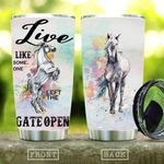 Horse Tumbler Cup Live Like Someone Left The Gate Open  Stainless Steel Insulated Tumbler 20 Oz Perfect Gifts For Horse Racing Lovers Great Gifts For Birthday Christmas Thanksgiving