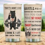 Gym Black Cat Tumbler Cup I Drink And I Lift Stainless Steel Insulated Tumbler 20 Oz Best Gifts For Cat Lovers Great Customized Gifts For Birthday Christmas Thanksgiving Coffee/ Tea Tumbler