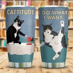 Cattitude I Do What I Want Tumbler Cup Cat Picture Stainless Steel Insulated Tumbler 20 Oz Best Gifts For Cat Lovers Great Customized Gifts For Birthday Christmas Thanksgiving Coffee/ Tea Tumbler