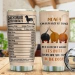 Personalized Dachshund Facts Tumbler Cup Money Can Buy A Lot Of Things  Stainless Steel Insulated Tumbler 20 Oz Tumbler For Dog Lovers Great Gifts For Birthday Christmas Thanksgiving