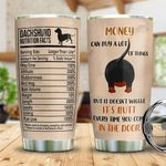 Black Dachshund Facts Tumbler Cup Money Can Buy A Lot Of Things Stainless Steel Insulated Tumbler 20 Oz Tumbler For Dog Lovers Great Gifts For Birthday Christmas Thanksgiving Coffee Tumbler