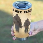 To My Dad I Know It's Not Easy Tumbler Cup, Hunters 20 Oz Tumbler Cup For Coffee/Tea Stainless Tumbler Cup For Hunter Great Customized Tumbler Cup For Father's Day Thanksgiving Birthday From Children