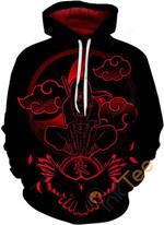 Naruto Print Pullover Unisex 3D All Over Print Hoodie, Zip-up Hoodie
