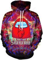 Printed Among Us Sports Street Casual Teen Pullover Unisex 3D All Over Print Hoodie, Zip-up Hoodie