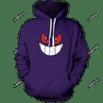 Gengar Unisex Pullover Hoodie 3D All Over Print Hoodie, Zip-Up Hoodie