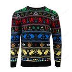 Harry Potter Houses Ugly Christmas Sweater, All Over Print Sweatshirt