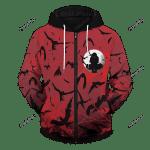 Itachi Crow Unisex 3D All Over Print Hoodie, Zip-up Hoodie