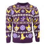 Spyro the Dragon Fairisle Ugly Christmas Sweater, All Over Print Sweatshirt