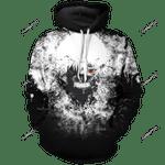 Kaneki Ken Unisex Pullover Hoodie 3D All Over Print Hoodie, Zip-Up Hoodie
