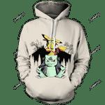 Pikasaur Senpai Unisex 3D All Over Print Hoodie, Zip-up Hoodie