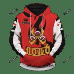 Pokemon Fire Uniform Unisex Pullover Hoodie 3D All Over Print Hoodie, Zip-Up Hoodie