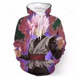 Movie Black Goku Super Saiyan Rosé 3d All Over Print Hoodie, Zip-Up Hoodie
