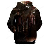 Guardian Of The Galaxy Peter Quill, Drax, Rocket And Groot 3D All Over Print Hoodie, Zip-up Hoodie