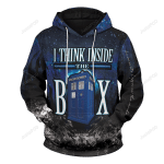 Think Inside The Box Unisex 3D All Over Print Hoodie, Zip-up Hoodie