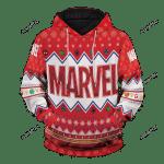 Marvel Christmas Unisex 3D All Over Print Hoodie, Zip-up Hoodie