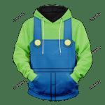 Luigi Unisex Pullover Hoodie 3D All Over Print Hoodie, Zip-Up Hoodie