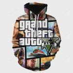 Grand Theft Auto GTA 5 Fancy 3D All Over Print Hoodie, Zip-up Hoodie