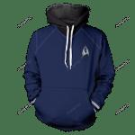 Starfleet Science Unisex Pullover Hoodie 3D All Over Print Hoodie, Zip-Up Hoodie