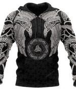 Viking Tribal Tattoo 3D All Over Print Hoodie, Zip-up Hoodie