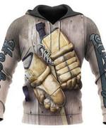 Hockey Glove 3D All Over Print Hoodie, Zip-up Hoodie