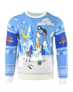 Official Adventure Time Festive Winter Ugly Christmas Sweater, All Over Print Sweatshirt