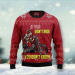 If You Don't Ride You Don't Know Ugly Christmas Sweater, All Over Print Sweatshirt