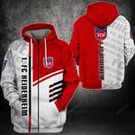 1.FC Heidenheim 3D All Over Print Hoodie, Zip-up Hoodie