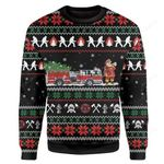 Firefighter Ugly Christmas Sweater, All Over Print Sweatshirt