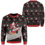 Santa And Jesus Ugly Christmas Sweater, All Over Print Sweatshirt