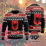 Albania Ugly Christmas Sweater, All Over Print Sweatshirt