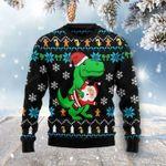 Dinosaur Ugly Christmas Sweater, All Over Print Sweatshirt