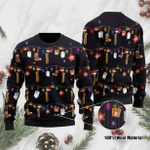 For Saxophone Lovers Ugly Christmas Sweater, All Over Print Sweatshirt