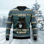 Coffee Cat  Ugly Christmas Sweater, All Over Print Sweatshirt