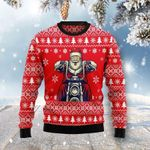Santa Clause Ride A Motorcycle Ugly Christmas Sweater, All Over Print Sweatshirt